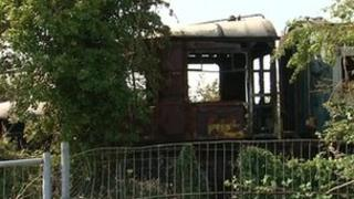 Burnt out carriage