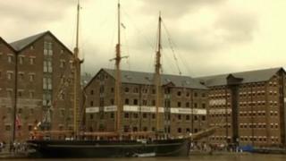 Tall ship in Gloucester Docks