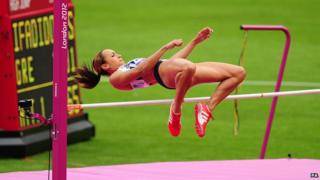 Jess Ennis is competing in the heptathlon