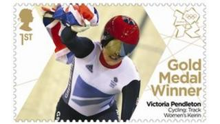 Stamp featuring Victoria Pendleton