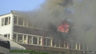 Hotel Riviera fire. Pic: Joe Polland