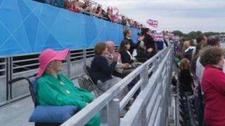 Eton Dorney spectator's stand