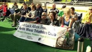 About 70 people gathered to watch Aileen Morrison compete