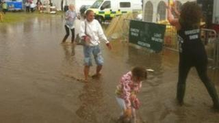Flooding at Oswestry Show