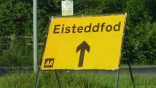 Arwydd i'r Eisteddfod