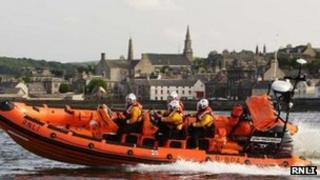 The Macduff lifeboat (Pic courtesy of RNLI)