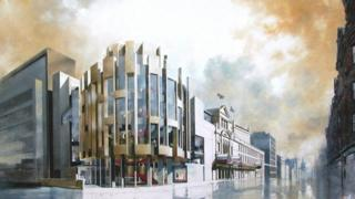 Artists impression of Theatre Royal extension