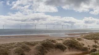 Photomontage of planned turbines