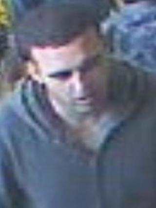 CCTV still of man wanted over the attack