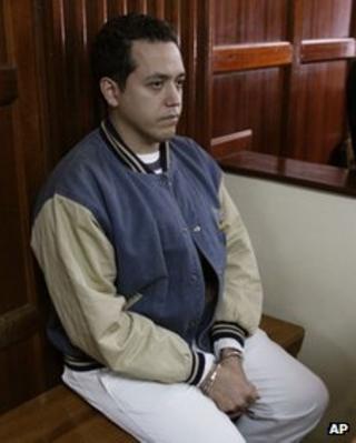 Venezuelan diplomat Dwight Sagaray at Nairobi's magistrate court