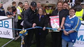 Theo Bristow opening Torquay United's new grandstand