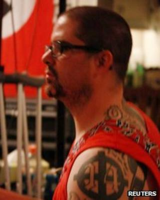 Wade Michael Page, 40, is seen in this undated picture from a myspace.com web page for the musical group End Apathy