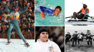 Eddie the Eagle Edwards, Eric the Eel, Issaka the Otter, Wojdan Shaherkani, Dorando Pietri