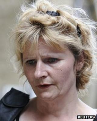 Jessica Harper leaves court