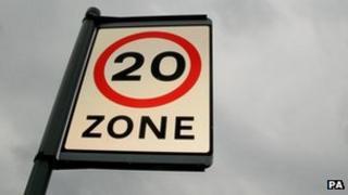 20mph zone sign (generic)
