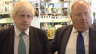 Boris Johnson and Eric Pickles in Tottenham in 2011