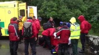 Dartmoor rescue, 7 August 2012