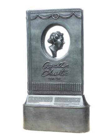 Agatha Christie statue