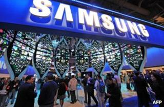 Samsung booth at the Consumer Electronics Show