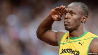 Usain Bolt won his 200m heat