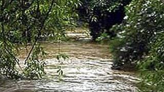 Wyke Beck near Halton in Leeds flooded in 2007