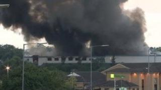 Fire at Ney Ltd near Coventry Airport