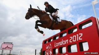 Nick Skelton of Team GB riding Big Star