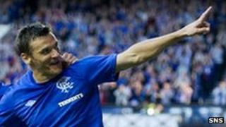 Lee McCulloch (right) opened the scoring