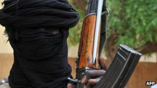 Islamist fighter in Mali (file photo)