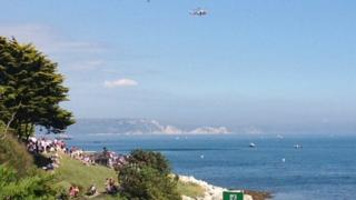 The helicopter rescue at the Nothe