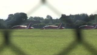 Red Arrows at RAF Scampton on 9 August