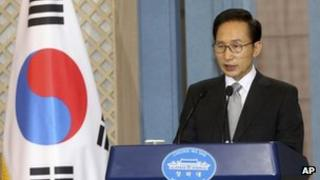 South Korean leader Lee Myung-bak (file image)
