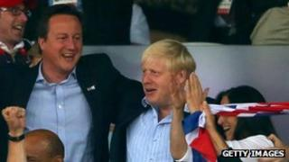 David Cameron and Boris Johnson at the Olympics