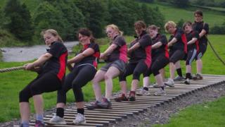 The Ithon Valley tug of war team