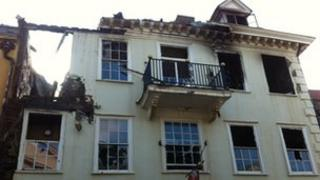 The front of Cupola House in Bury St Edmunds