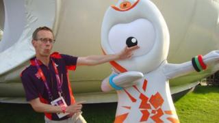David Cornock with Wenlock