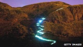 Speed of Light on Arthur's Seat