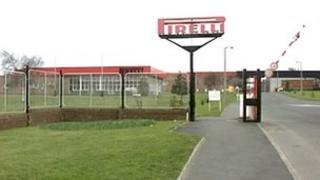 Pirelli factory in Carlisle