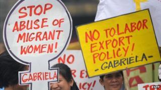 Filipino protesters in Manila, March 2012