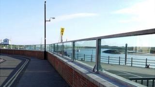 Glass sea defences at Wells-next-the-Sea