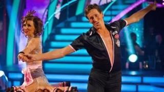 Brendan Cole with Anita Dobson in Strictly Come Dancing