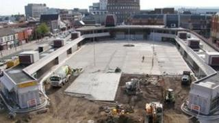 Work at Middlesbrough Bus Station