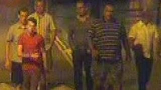Busker attack CCTV images