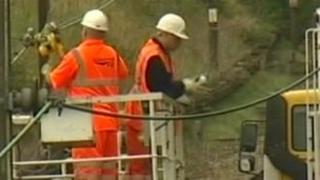 Network Rail cabling work