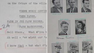BBC Radio 4 The Archers script and cast images