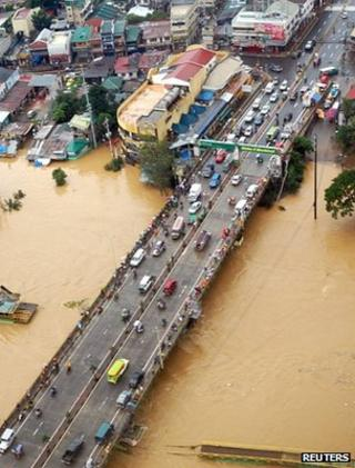 Flooding, Manila (Image: Reuters)