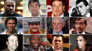 (Top row - left to right) Dereck Chisora, Derek Nimmo, Derek Hatton, Derek (Dirk) Bogarde; (Middle row - left to right) Derek Pringle, fictional character Derek 'Del Boy' Trotter, Sir Derek Jacobi, Derek Fowlds; (Bottom row - left to right) Derek Draper, Derek Redmond, fictional character Derek Branning, Derek Jarman. Images: Getty/PA/BBC