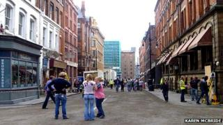 Filming of Captain America in Manchester