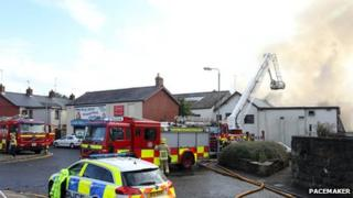 The scene of the blaze on the Clonavon Road