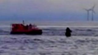 Rescue scene Crosby